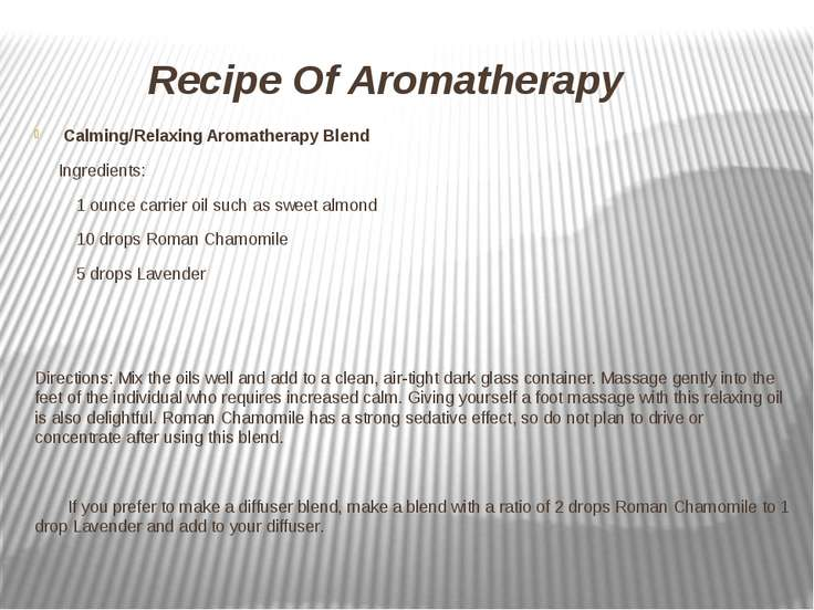 Recipe Of Aromatherapy Calming/Relaxing Aromatherapy Blend Ingredients: 1 oun...