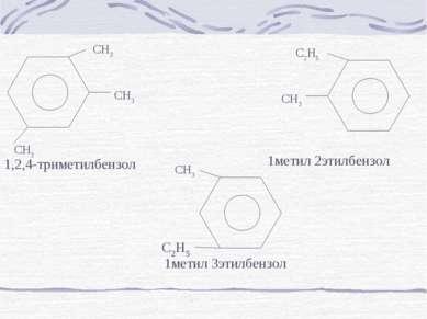 CH3 CH3 CH3 1,2,4-триметилбензол CH3 C2H5 1метил 2этилбензол CH3 1метил 3этил...