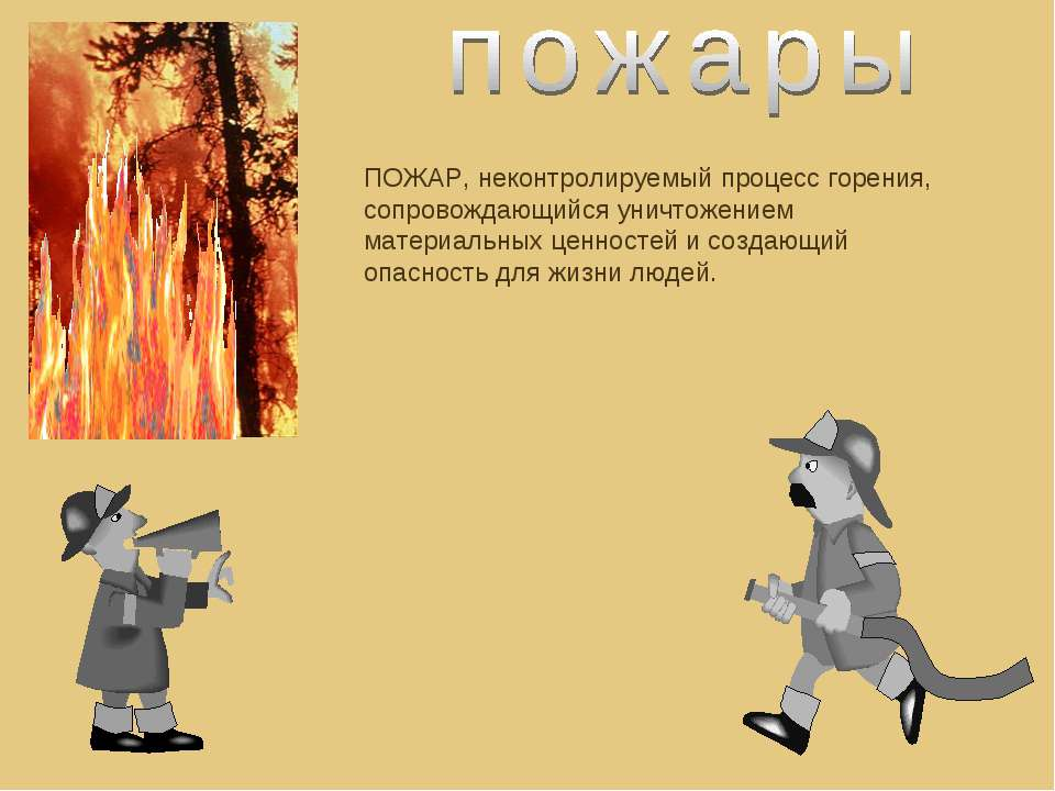 ПОЖАР, неконтролируемый процесс горения, сопровождающийся уничтожением матери...
