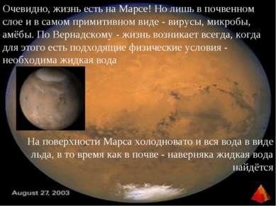 Очевидно, жизнь есть на Марсе! Но лишь в почвенном слое и в самом примитивном...