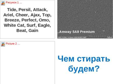 Чем стирать будем? Tide, Persil, Attack, Ariel, Cheer, Ajax, Top, Breeze, Per...