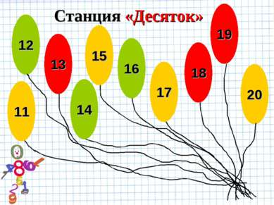 Станция «Десяток» 12 13 14 15 11 20 16 17 18 19 15 17 20 15 17 18 19