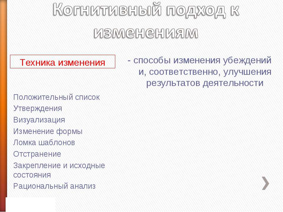 Положительный список Утверждения Визуализация Изменение формы Ломка шаблонов ...