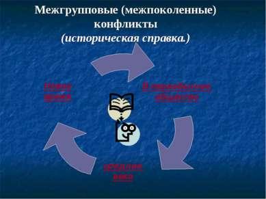 Межгрупповые (межпоколенные) конфликты (историческая справка.) Новое время