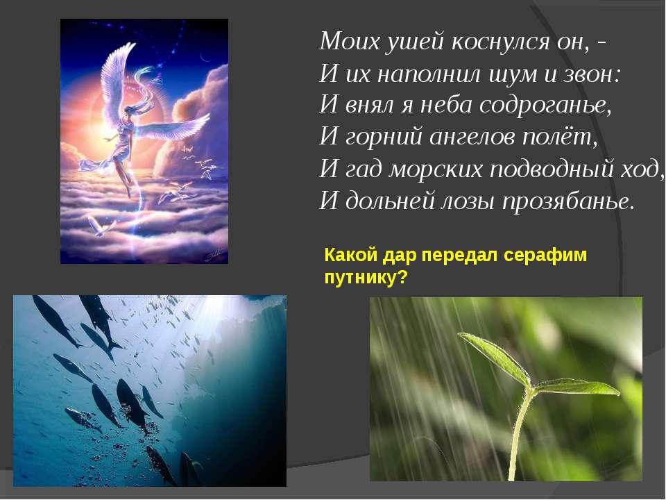 Моих ушей коснулся он, - И их наполнил шум и звон: И внял я неба содроганье, ...