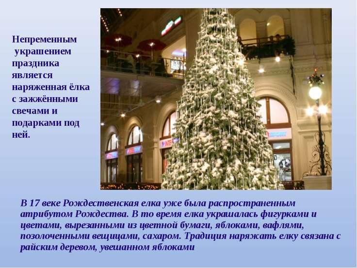 В 17 веке Рождественская елка уже была распространенным атрибутом Рождества. ...