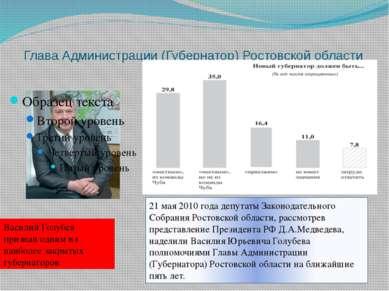 Глава Администрации (Губернатор) Ростовской области 21 мая 2010 года депутаты...