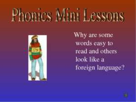 Phonics Mini Lessons