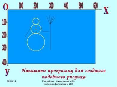 Напишите программу для создания подобного рисунка * Разработка: Клинковская М...