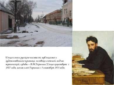 Улица имени русского писателя, публициста и художественного критика, человека...