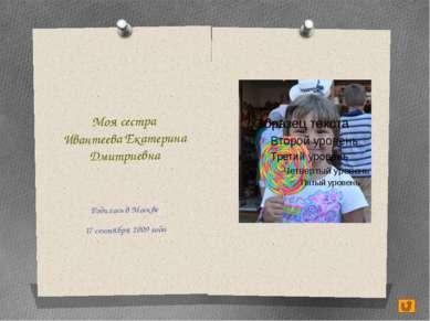 Моя мама Ивантеева (Приходько) Ольга Юрьевна Родилась в Москве 11 ноября 1980...