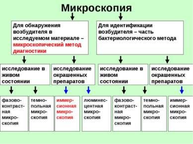 Микроскопия Для обнаружения возбудителя в исследуемом материале – микроскопич...