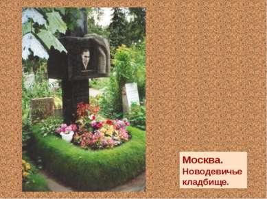 Москва. Новодевичье кладбище.