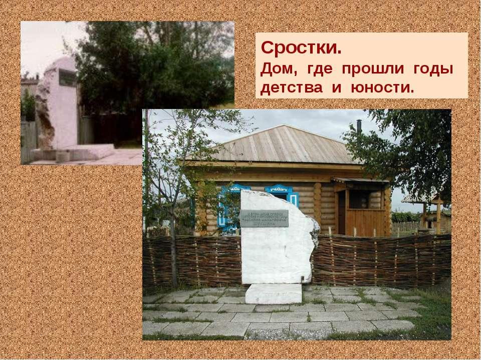 Сростки. Дом, где прошли годы детства и юности.