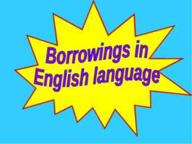 Borrowings in English language