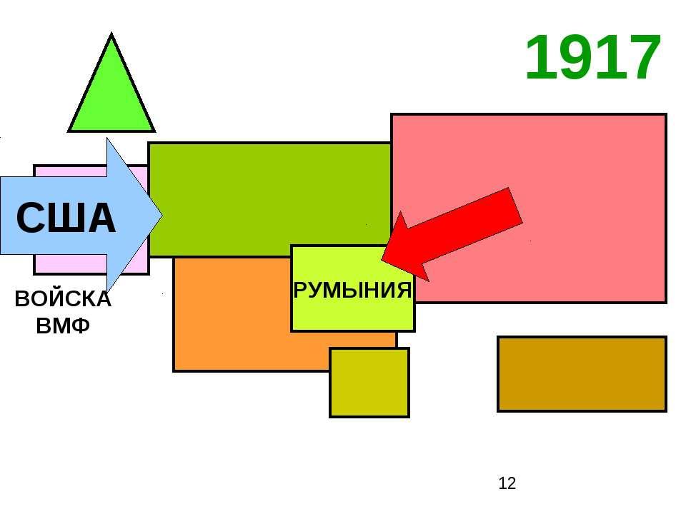 1917 США РУМЫНИЯ ВОЙСКА ВМФ
