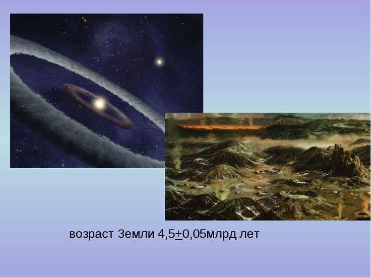 возраст Земли 4,5+0,05млрд лет