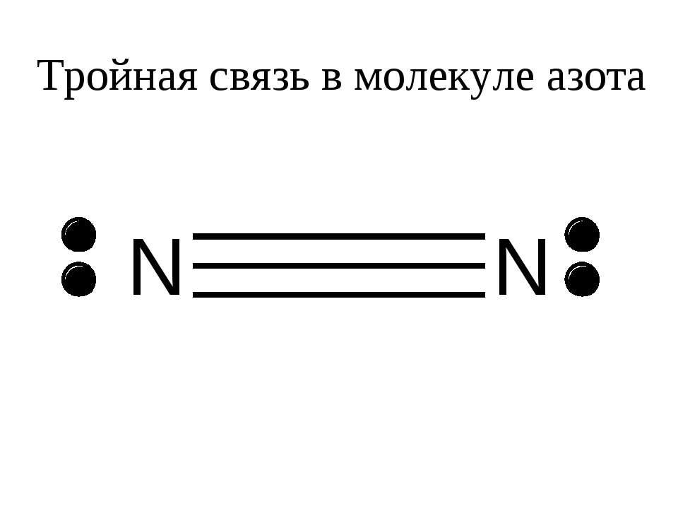 Тройная связь в молекуле азота