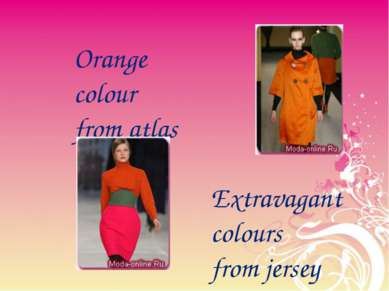 Orange colour from atlas Extravagant colours from jersey