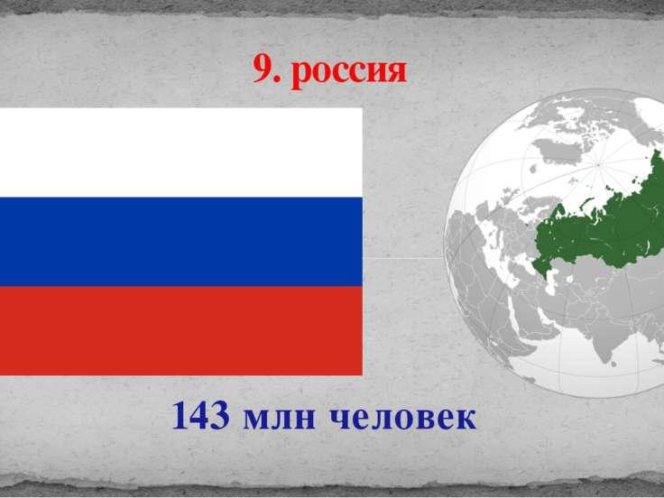 143 млн человек 9. россия