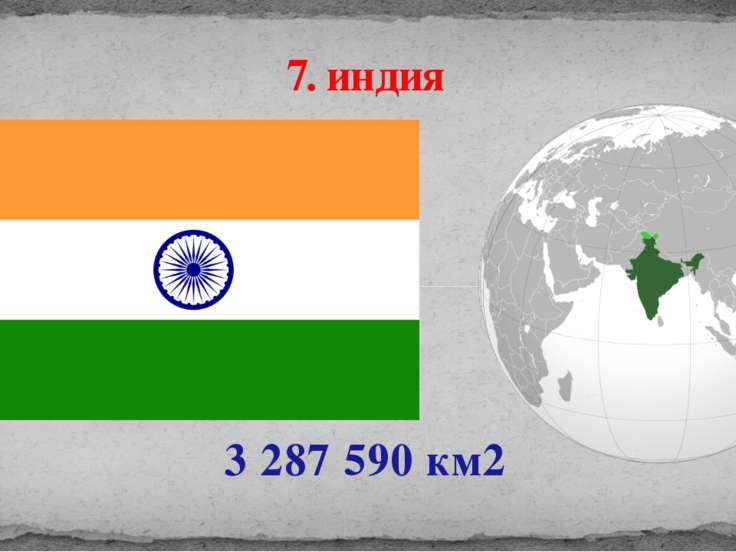 3 287 590 км2 7. индия