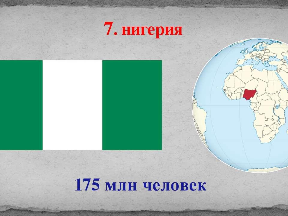 175 млн человек 7. нигерия