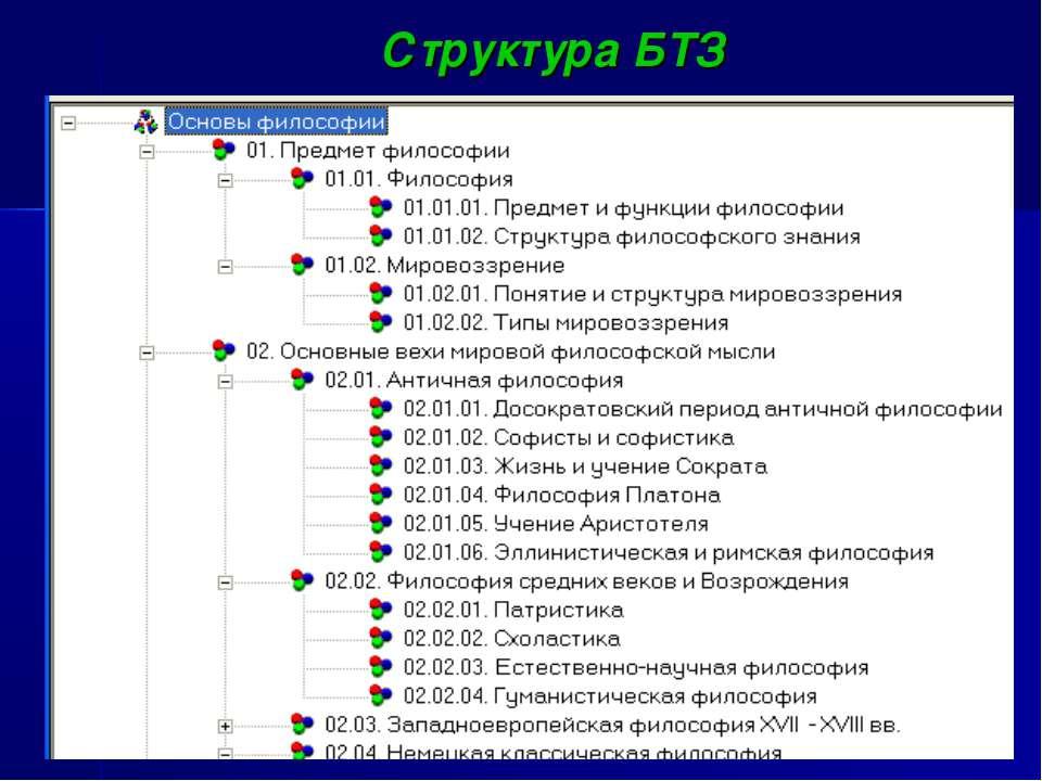 Структура БТЗ