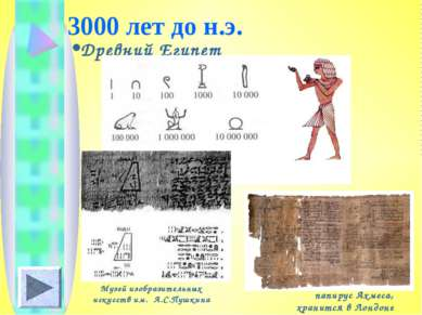 3000 лет до н.э. Древний Египет папирус Ахмеса, хранится в Лондоне Музей изоб...