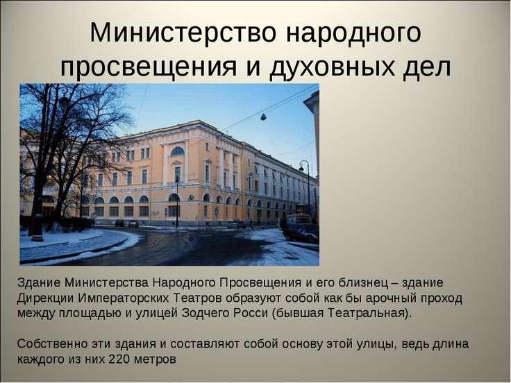 Министерство народного просвещения и духовных дел Здание Министерства Народно...