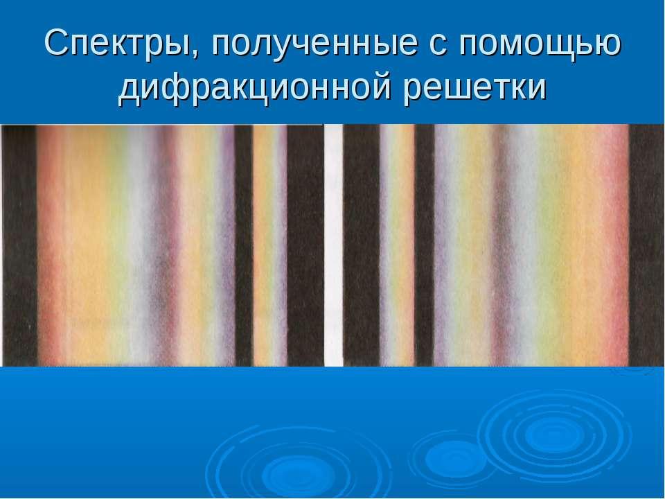 Спектры, полученные с помощью дифракционной решетки