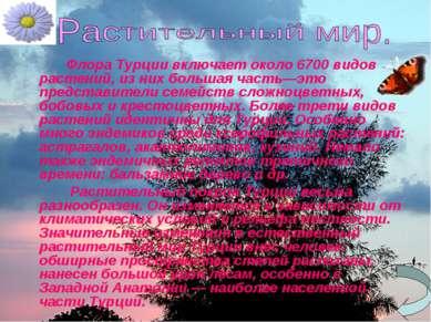 Флора Турции включает около 6700 видов растений, из них большая часть—это пре...