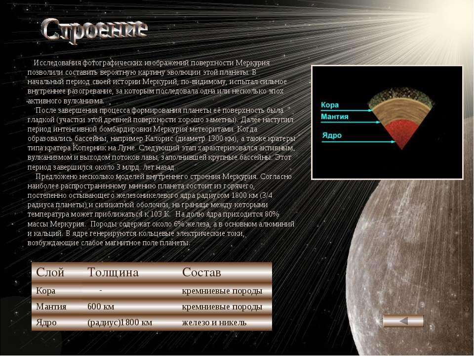 Исследования фотографических изображений поверхности Меркурия позволили соста...