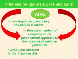 Vitamins for children: pros and cons