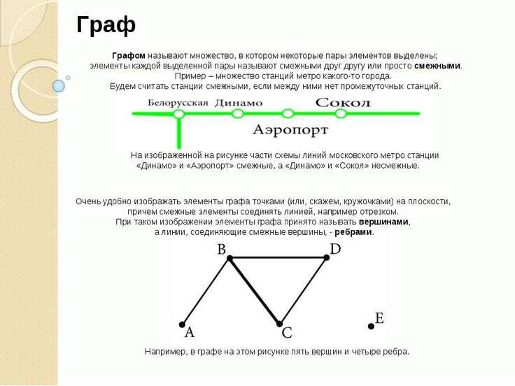 Графом называют множество, в котором некоторые пары элементов выделены; элеме...