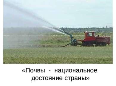 «Почвы - национальное достояние страны»