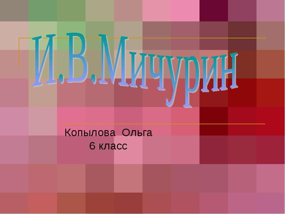 Копылова Ольга 6 класс