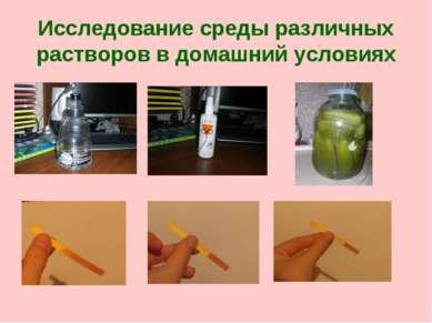 Исследование среды различных растворов в домашний условиях