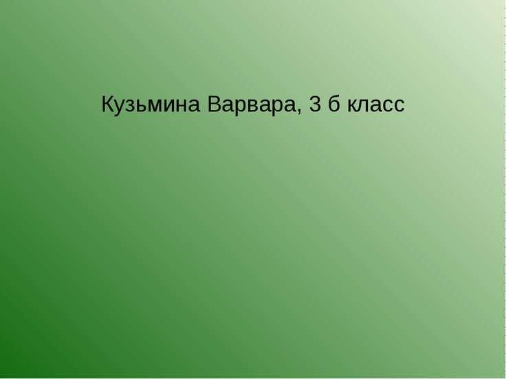 Кузьмина Варвара, 3 б класс