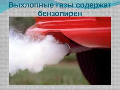 Выхлопные газы содержат бензопирен