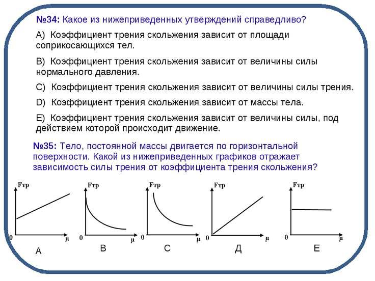 А В С Д Е №34: Какое из нижеприведенных утверждений справедливо? А) Коэффици...