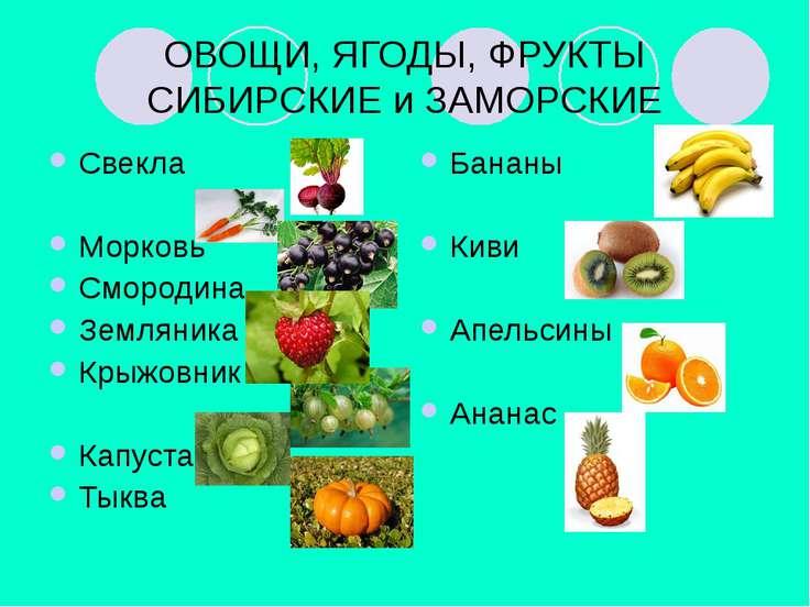 ОВОЩИ, ЯГОДЫ, ФРУКТЫ СИБИРСКИЕ и ЗАМОРСКИЕ Свекла Морковь Смородина Земляника...
