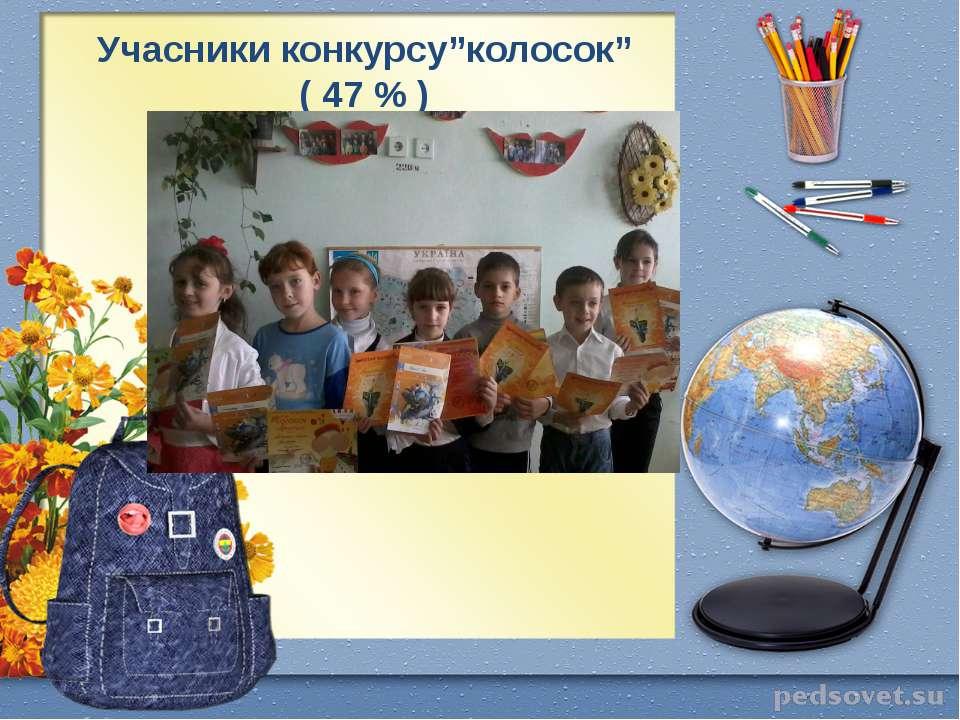 "Учасники конкурсу""колосок"" ( 47 % )"
