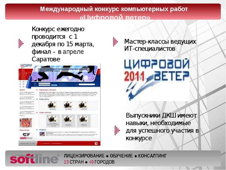 Мастер-классы ведущих ИТ-специалистов Международный конкурс компьютерных рабо...