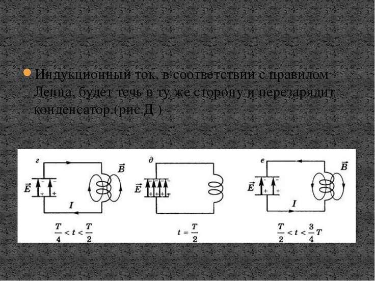 Индукционный ток, в соответствии с правилом Ленца, будет течь в ту же сторону...