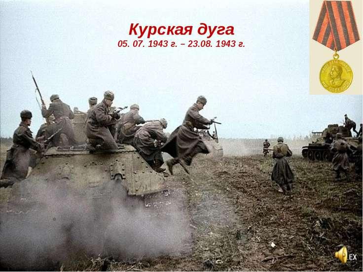 Курская дуга 05. 07. 1943 г. – 23.08. 1943 г.