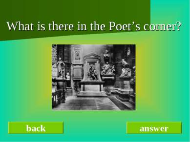 What is there in the Poet's corner? back answer