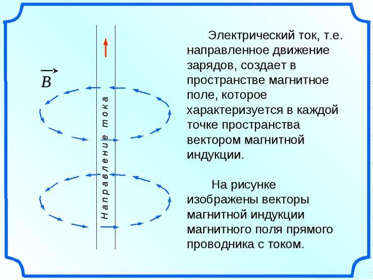 Электрический ток, т.е. направленное движение зарядов, создает в пространстве...