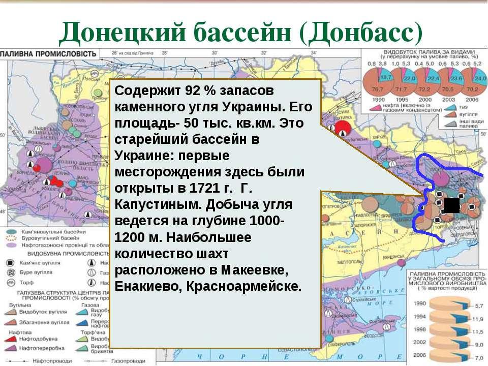 Содержит 92 % запасов каменного угля Украины. Его площадь- 50 тыс. кв.км. Это...