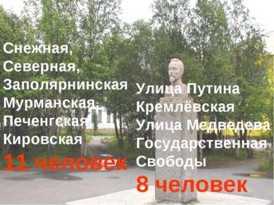 Снежная, Северная, Заполярнинская Мурманская, Печенгская, Кировская 11 челове...