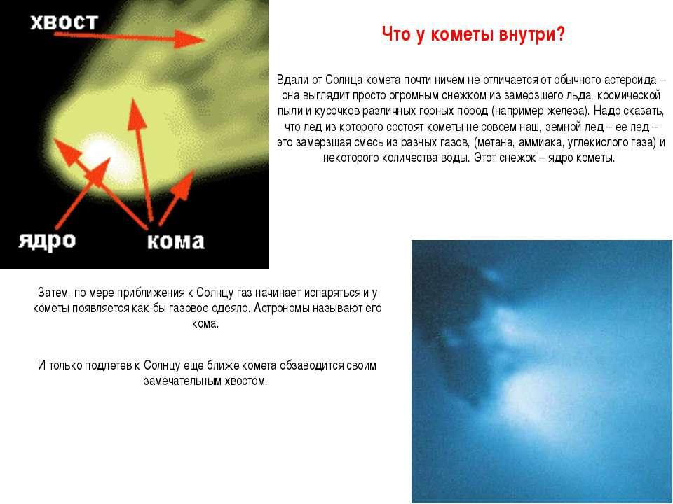 Вдали от Солнца комета почти ничем не отличается от обычного астероида – она ...